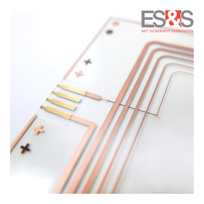 Transparent flexible printed circuit board - through-plating