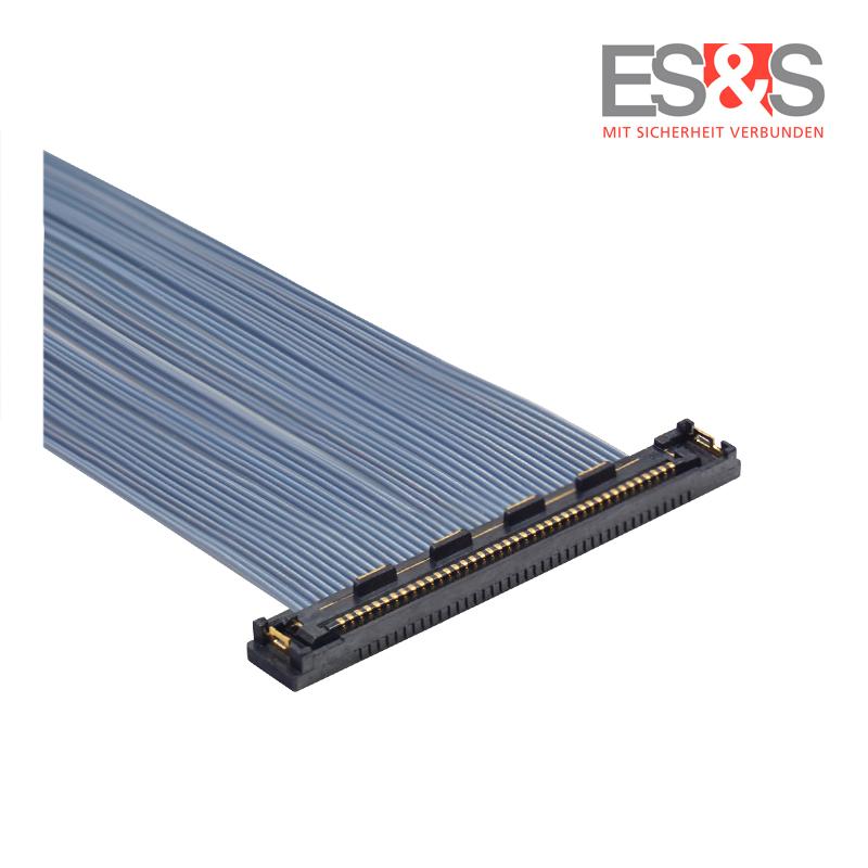 Flexibles Mikrokoaxialkabel KEL-Stecker USLS20 - unten