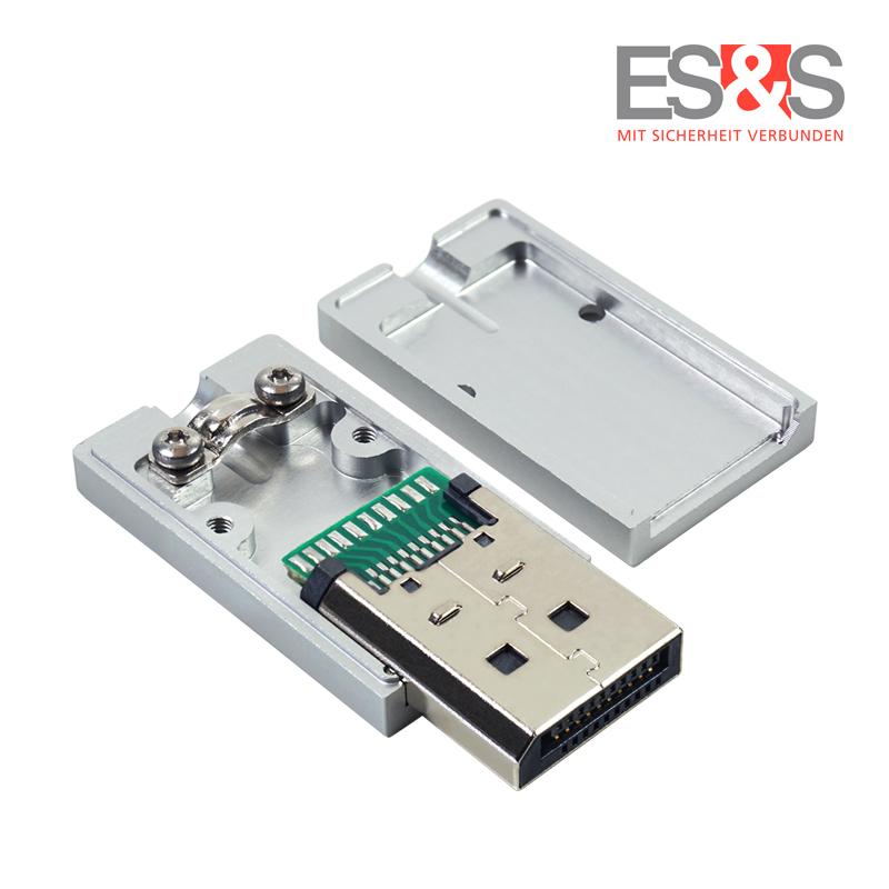 ES&S DisplayPort™-Stecker Aluminiumgehäuse