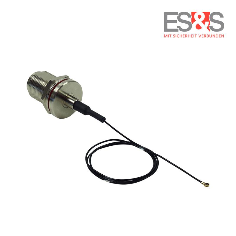 Female Einbaubuchse mit I-PEX MHF® 4 Stecker